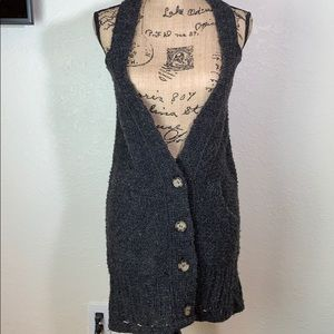 Free People long vest size XS